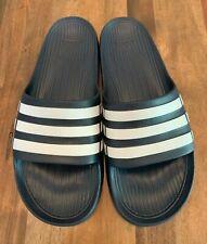 Adidas men's slides - size 12 - blue and white