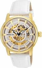 Invicta 22643 Gent's Skeleton Dial Automatic White Band Watch