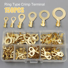 Ring Type Lug Wire Non-insulated Assortment Kit Cable Connector Crimp Terminals
