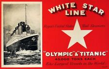 Olympic Titanic Brochure Cover 8 x 12 - White Star Line