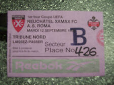 TICKET NEUCHATEL XAMAX - AS ROMA 12/9/1995 C3