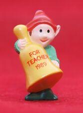 Hallmark Merry Miniatures Christmas 1989 Bell For Teacher Elf Qfm1612