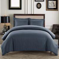 Soft Duvet Cover Comfort 1800 Count Microfiber 3 P Deep pocket Bed Sheets Set G1