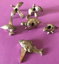 Metal Cake Candle Holders-1 Each Duck-Fish-Frog-2 Different Birds-Turtle