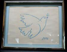 "Pablo Picasso Dove Bird of Peace   10""×13"" Vintage Print"