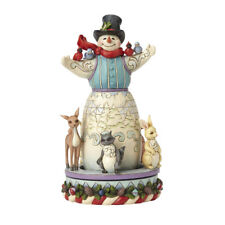 Jim Shore Kidness Warms The Winter Snowman With Rotating Animals 4056591