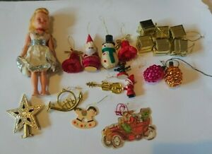 Job lot of Vintage 1950s Christmas paper honeycomb concertina decoration + other