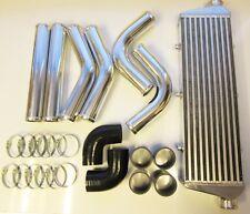 "Universal Front Mount Intercooler Kit FMIC 63 mm 2.5"" Noir tuyaux 550x180x65 Core"