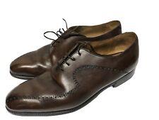 Berluti men's leather derby dress shoe brown 9 US Dress lace up
