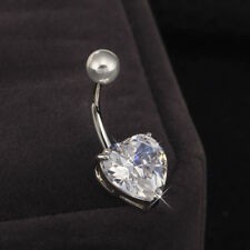 Charms Piercing Jewelry Heart Bioflex Navel Rings Lady Belly Nailing Stud Ring