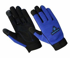 Men's Working Gloves Carpenter Builder Farmer Gloves Driving Touchscreen Gloves