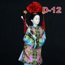 D-12 China Qing-Dynastie Geisha chinesisch Puppe Figur Seide 31cm groß