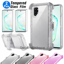 For Samsung Galaxy Note 10/10+ Plus Shockproof Hybrid Armor Belt Clip Case Cover