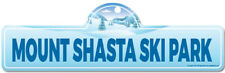 Mount Shasta Ski Park Street Sign | Snowboarder, D�cor for Ski Lodge, Cabin