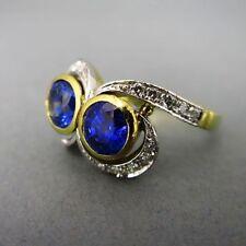 Echte Edelstein-Ringe aus mehrfarbigem Gold mit Diamant für Damen