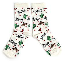 LADIES MEXICAN CHILLI BURITOS CACTUS  SOCKS UK 4-8 EUR 37-42 USA 6-10