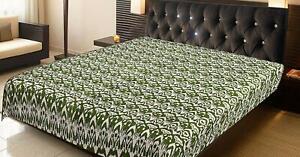 Ikat Quilt,  Bohemian Indian Reversible Bedding  Bedcover throw  Kantha