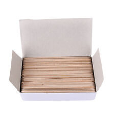 1Box 6 Inch Wood Tongue Depressor Large Wooden Waxing Spatula Wax Stick  SOWR