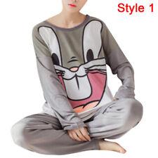 Women Pajamas Sets long Sleeve Lovely Cartoon Sleepwear Girls Nightgown Suits FG