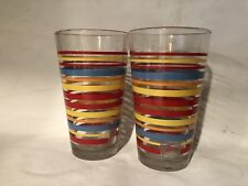 Lot 2 Fiesta Scarlet Collection Stripe Tapered Cooler Glass