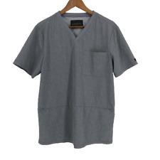 Jaanuu Scrub Top Gray Mens Pocket Zipper Size Medium M