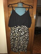 BEAUTIFUL TEMT BLACK AND GOLD DRESS NEW WITH TAGS + FREE GIFT