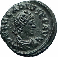 ARCADIUS 383AD Authentic Genuine Ancient Roman Coin Wreath i77602