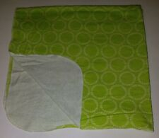 Disney Baby Green White Polka Dot Receiving Blanket Lovey Security 100% Cotton