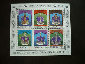 Stamps - Barbuda - Scott# 348 - Souvenir Sheet