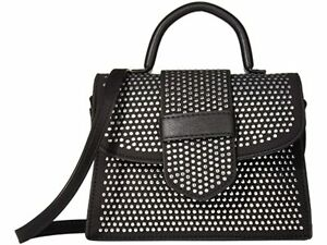 STEVE MADDEN Mini Studded Faux Leather Top Handle Satchel  NEW🔥