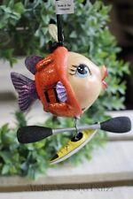 Katherine´s Collection Kanu Kajak Boot Sportler Kissing Fish Fisch Kussmund NEU