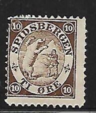 Norway: Local post spidsbergen, MNG, T1 ore, brown, EBNO01