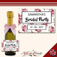 L28 Personalised Custom Mini Individual Prosecco Bottle Hen Party Bridal Label