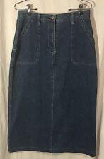 FADED GLORY Modesty Jean Skirt 100% Cotton Woman's Size 10 Beautiful Nice EUC