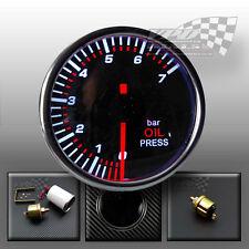 """MANOMETRO DELL'OLIO 52mm 2"""" Bar Personalizzato Auto Interior dash con mittente"""