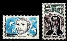 SELLOS FRANCIA 1982 2198 ST. FRANCISCO DE ASIS + 2249 ST. TERESA DE AVILA 2v.