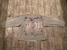 + - Velvet Monkees Pullover Sweatshirt 90er Kult Pulli Mega Rar grau L bedruckt