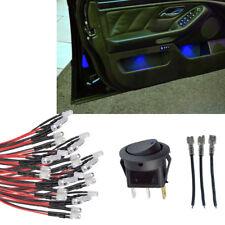 20pcs Blue LED Interior LED Glow Accent Kit & Switch for Silverado GMC Trucks