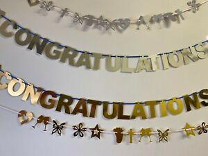 Personalised Congratulations Bunting Prom Graduation Party Congradulations CB12g