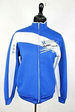 Hurley Track Jacket size S Men Blue White Front Back Embroidered Logos Zip Front