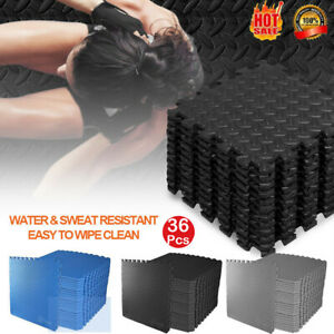 36Pcs Exercise EVA Foam Floor Mats Gym Home Tiles Flooring Fitness Yoga Workout