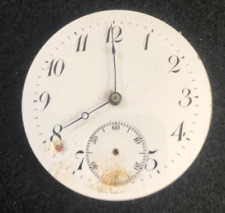 Vintage Swiss Pocket Watch Movement Parts Good Balance