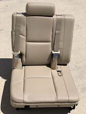 RH 2007-2014 Perforated Tan Leather 3rd Seat Third Row Yukon Tahoe Suburban