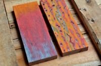 3D Color Wood for Knife handle scales blanks DIY material, 120x40x10 mm, 1 piece