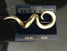 VINTAGE ORIGINAL 1980S GIVENCHY LARGE SQUIGGLE PIN
