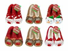 Cozee Ladies Christmas Slippers 1 or 2 Pairs Discount 3d Novelty UK 4-6 Santa
