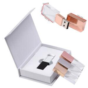 Personalized Custom you Photography Wedding Logo Crystal USB Pen Flash Drive box