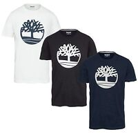 Timberland K-R Brand Tree Logo T-shirt Mens Crew Neck Big Print Cotton Tee Top