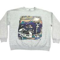 VTG Orlando Solar Bears IHL Men's Lee Hockey Pullover Sweatshirt Gray • XL