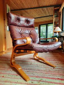 Sessel Clubsessel Retro Leder Vintage 60er Easy Chair Danish Rybo Rykken 60s 1/2